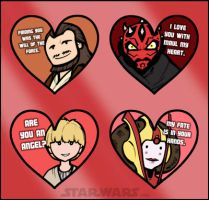Star Wars PHANTOM MENACE Valentines by grantgoboom
