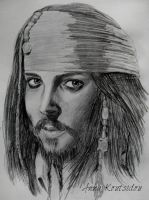 Captain Jack Sparrow by annakoutsidou