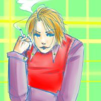 Blond Smoker by Ahsayuni-Love