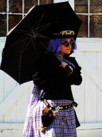 Purple Plaid Voile Walking Costume by grg-costuming