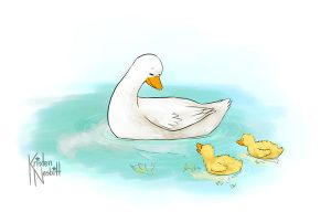 Mama Duck C: by The-kat