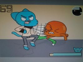 Super Gumball Fighter by Midnight-Wolfi3
