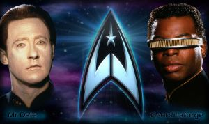 Data and Geordi La Forge by anime-fan001