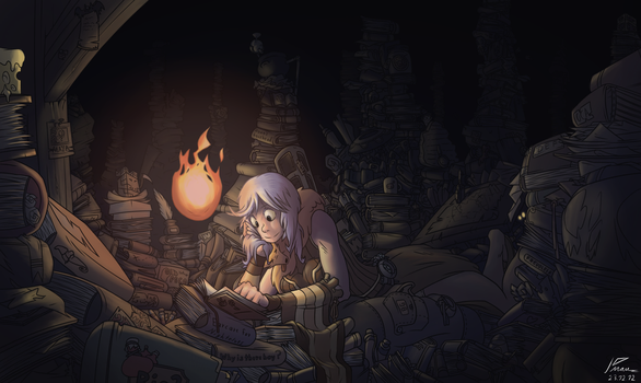 Scholar in the Attic by kmau