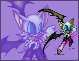 Rouge the bat - collab by sensum
