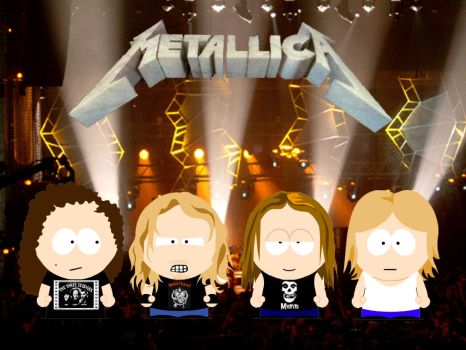 Metallica in South Park by NorseHunter