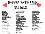 K-pop Fanclub Names by AMerHAkeem