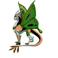 CO: Jadebutterfly Dragoness by JazzTheTiger