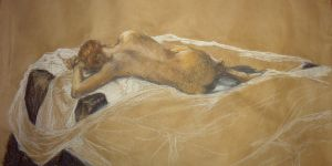 life drawing: reclining model by TaijaVigilia