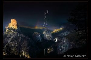 Yosemite Lightning Strike by narmansk8