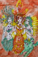 Three lovely Ladies by chaosqueen122