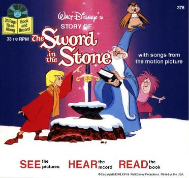 Retro Disney Sword in the Stone read-along cover by WileE2005