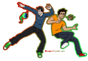 Mark and Jack Attack! by Deadpuff