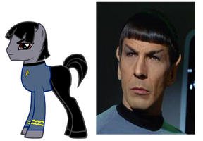 spock ponified (R.I.P.) by kuren247