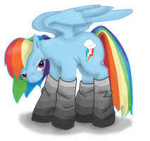 Rainbow Dash in Socks by Babileilei