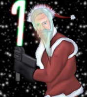 Jedi Master Claus by GronHatchat