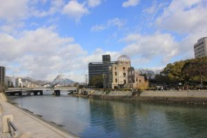 Lest we Forget- the A-Bomb Dome, 2nd view by rayna23
