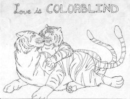 Love Is Colorblind Lineart by PewterKat