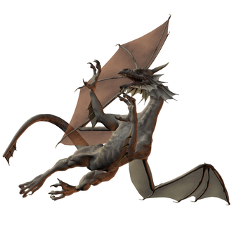 Zombie Dragon 006 by Selficide-Stock