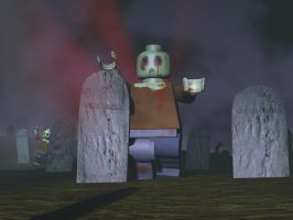 Zombie Legoman_final scene by Kikane