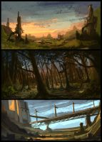 Environment Speed Paintings 3 by ClaytonBarton