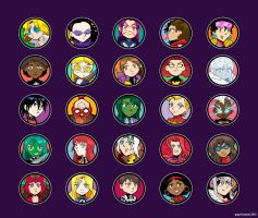 Marvel Lady Chibis by Saturn-Kitty