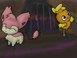 PMD: Skitty and Torchic by Moonblizzard
