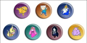 Adventure Time Buttons by Maxx-V