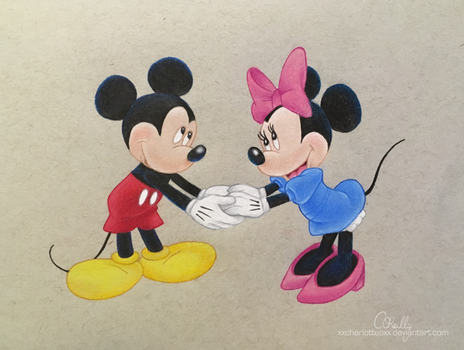 Mickey and Minnie by xxcharlotteoxx