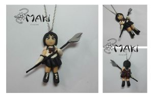 Sailor Saturn fimo doll necklace by Makicreazion