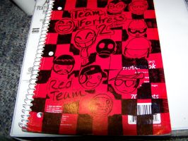 Team Fortress note book by HollowIchigo456