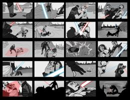 Lightsaber StoryBoards by OhSadface