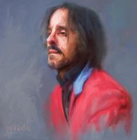 PORTRAIT OF A MAN IN RED COAT by JALpix