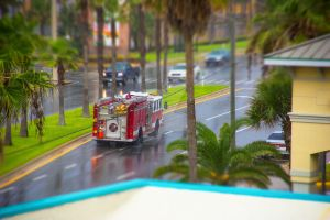 Fire truck tilt shift by jhphotographer