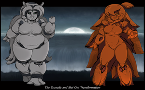 The Tsunade and Mei Oni Transformation IV by Chronorin