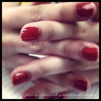 Red Nails by princessellery