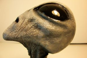 Alien Grey bust by Dave Britton by BrittonsConcoctions