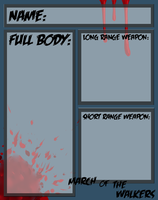HUMAN March of the walkers App sheet by kirstleberry