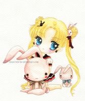 Usagi and bunnies by tho-be