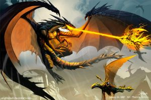 Black Dragon Attack by el-grimlock