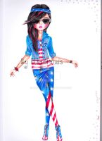 USA themed outfit! :) by Mayonnais