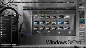 Black Seven theme for windows7 by allthemes