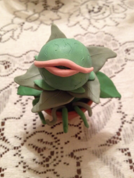 Audrey II made of Sculpey II by the-commoners-ramen