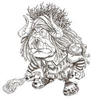Ink the Troll King by borogove13