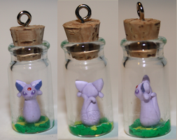 Espeon in a Bottle by missinsaneperson