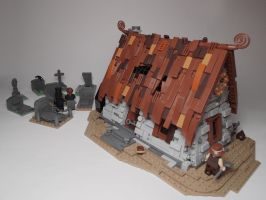 LEGO. Graveyard Watchman's House by DwalinF