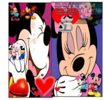Minnie and Mickey love by pierrettepaola