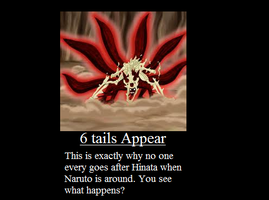 6-Tails Demotivational Poster by TeamShikaIno