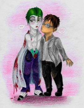 Fatso wants to kissu Jokersu by ZalyHeartlessTigress