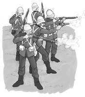 British riflemen by DarkCloak